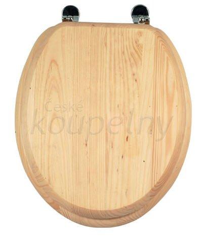 Dřevěné wc sedátko